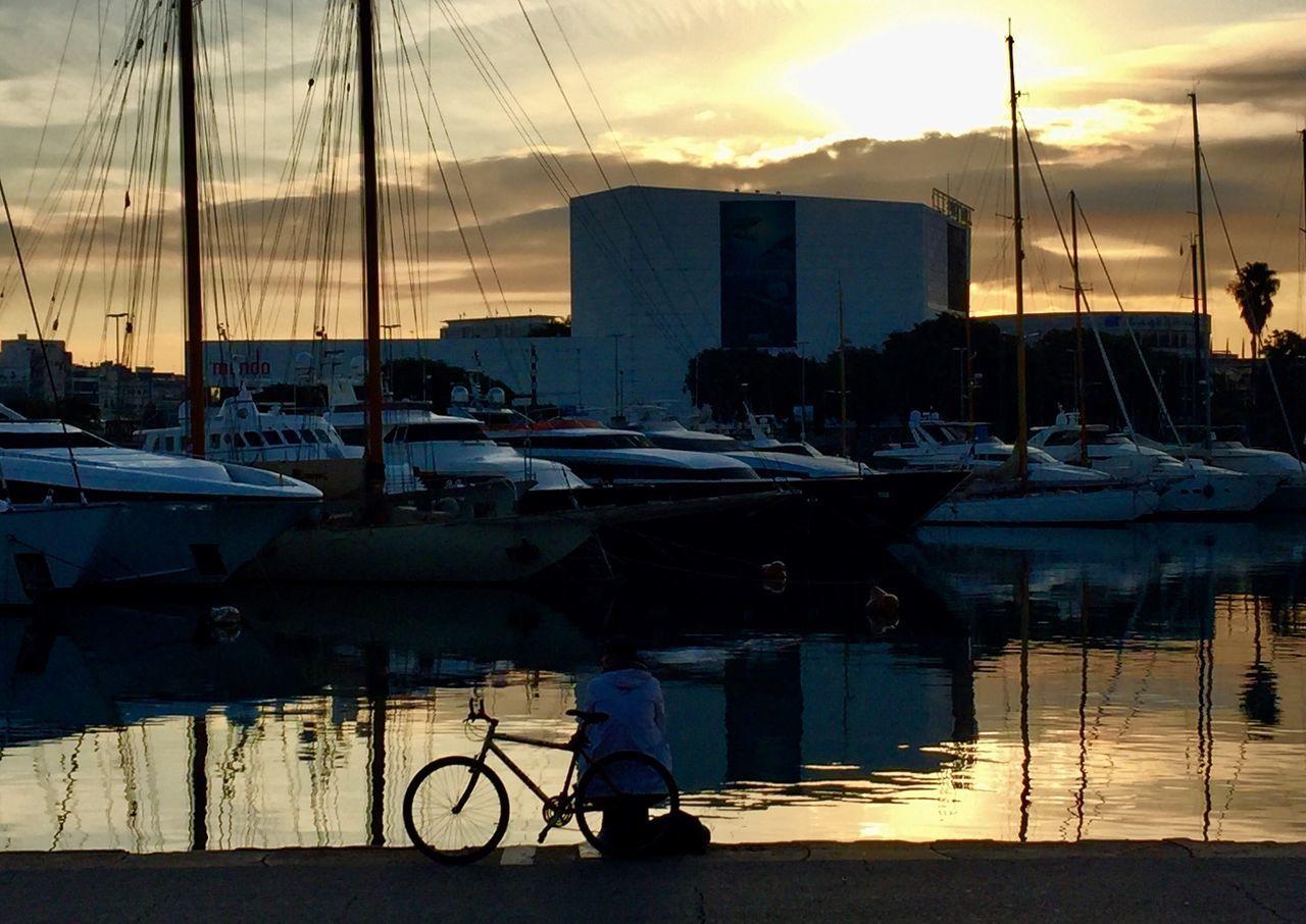 I Love Bikes Amanecer Sombras