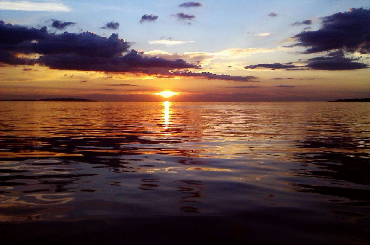 Sunset. Sea. Water. Ängelholm. Råbocka.