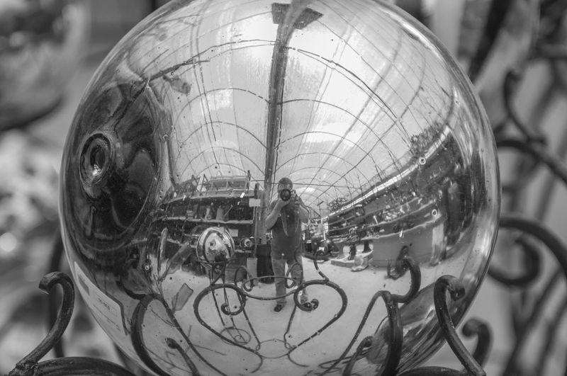 Art Art And Craft Circle Creativity Indoors  Metal Metal Sphere Ornate Reflection Shiny