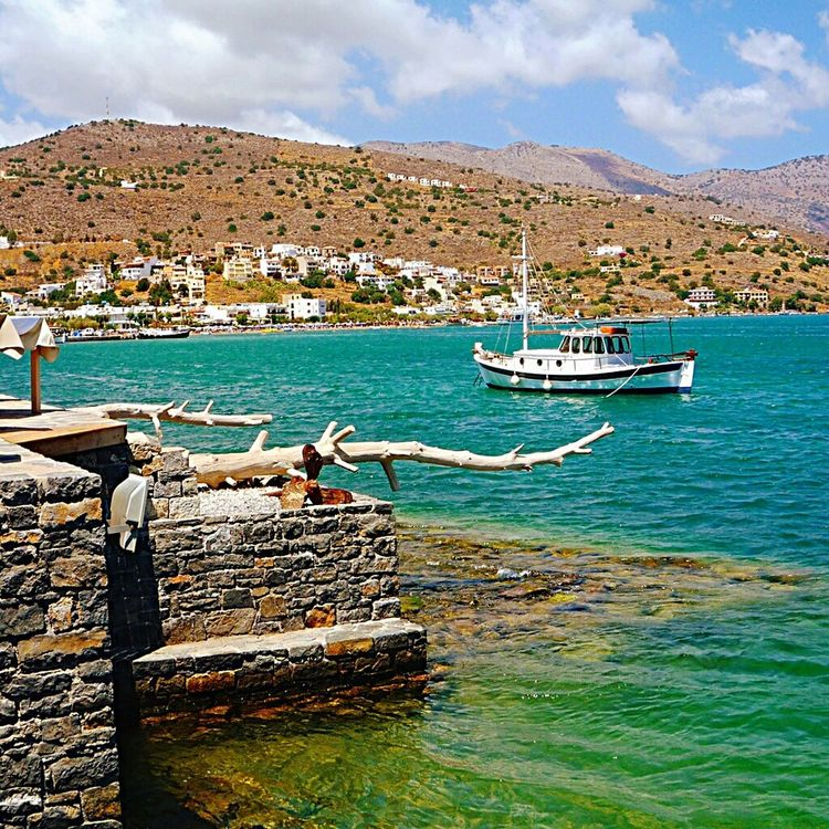 Elounda, Crete. Elounda Crete Boat Seascape Ocean Greece Travel Boats Landscape Coast