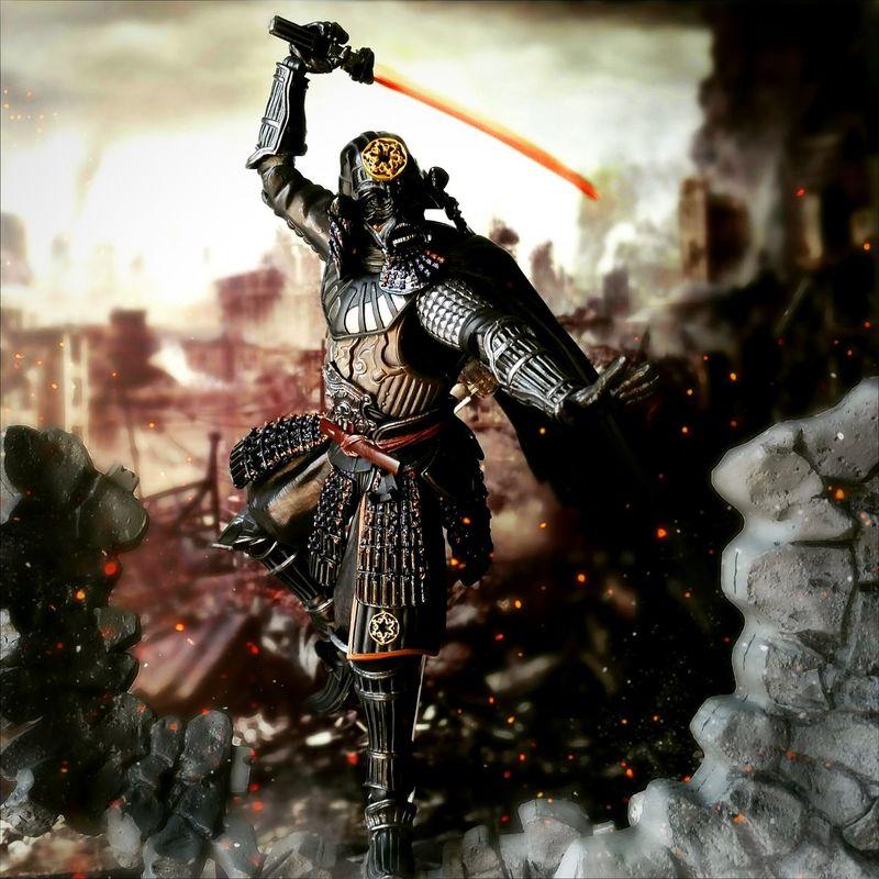 Samurai Taisho Darth Vader Toys Action Figures Tamashiinations Toy Photography BANDAI Starwars Movierealization Darth Vader Samurai Taisho Sith Lord