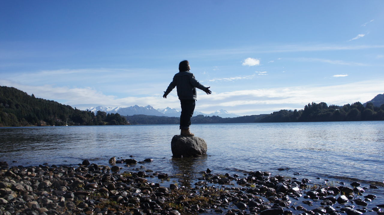 Bariloche Bariloche, Argentina Cordilheira Dos Andes Mountain Nature One Person Patagonia Argentina Real People Tranquil Scene Tranquility