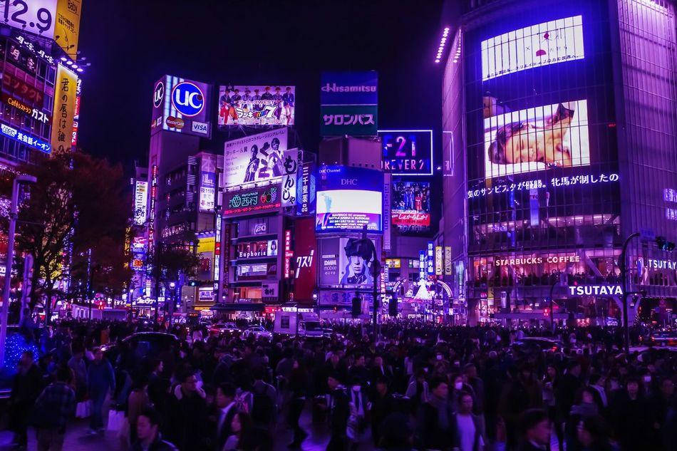 Night Illuminated People Large Group Of People City Tokyo Japan Photography Japanese Photography Japan 渋谷駅前スクランブル交差点 City JapaneseStyle Tokyo,Japan Tokyo Street Photography Shibuya 渋谷