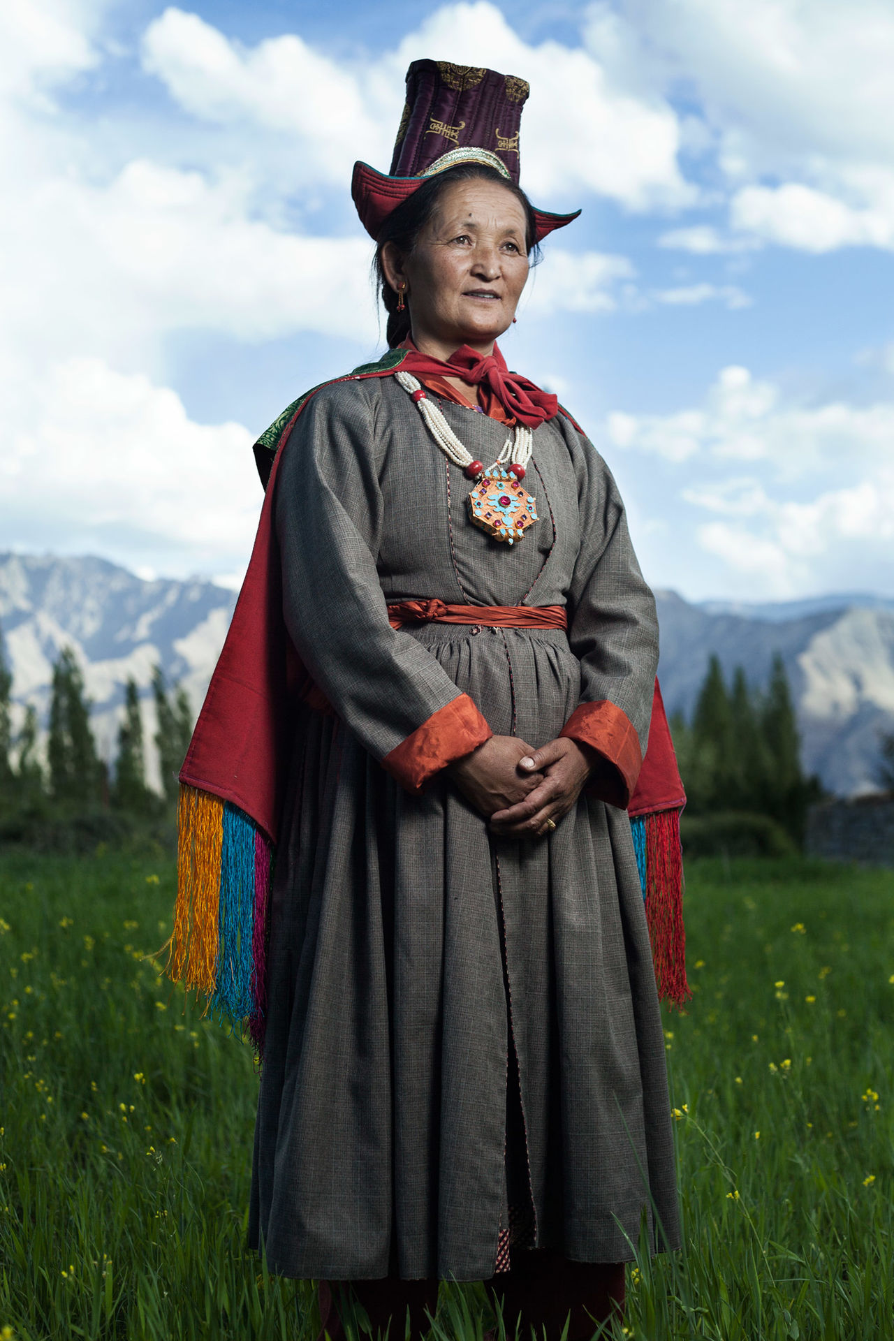 Ladakhi women Traditional clothing Adult one person outdoors royalty royal person women around the world scenics PortraitPhotography women Tradition photostory indiapictures India Himalayas Portrait of a Woman lifestyles The Week On Eyem beauty in Nature EyeEm arts culture and entertainment strobist EyeEm Best Shots Travel Beautiful people women around the world The Portraitist - 2017 EyeEm Awards