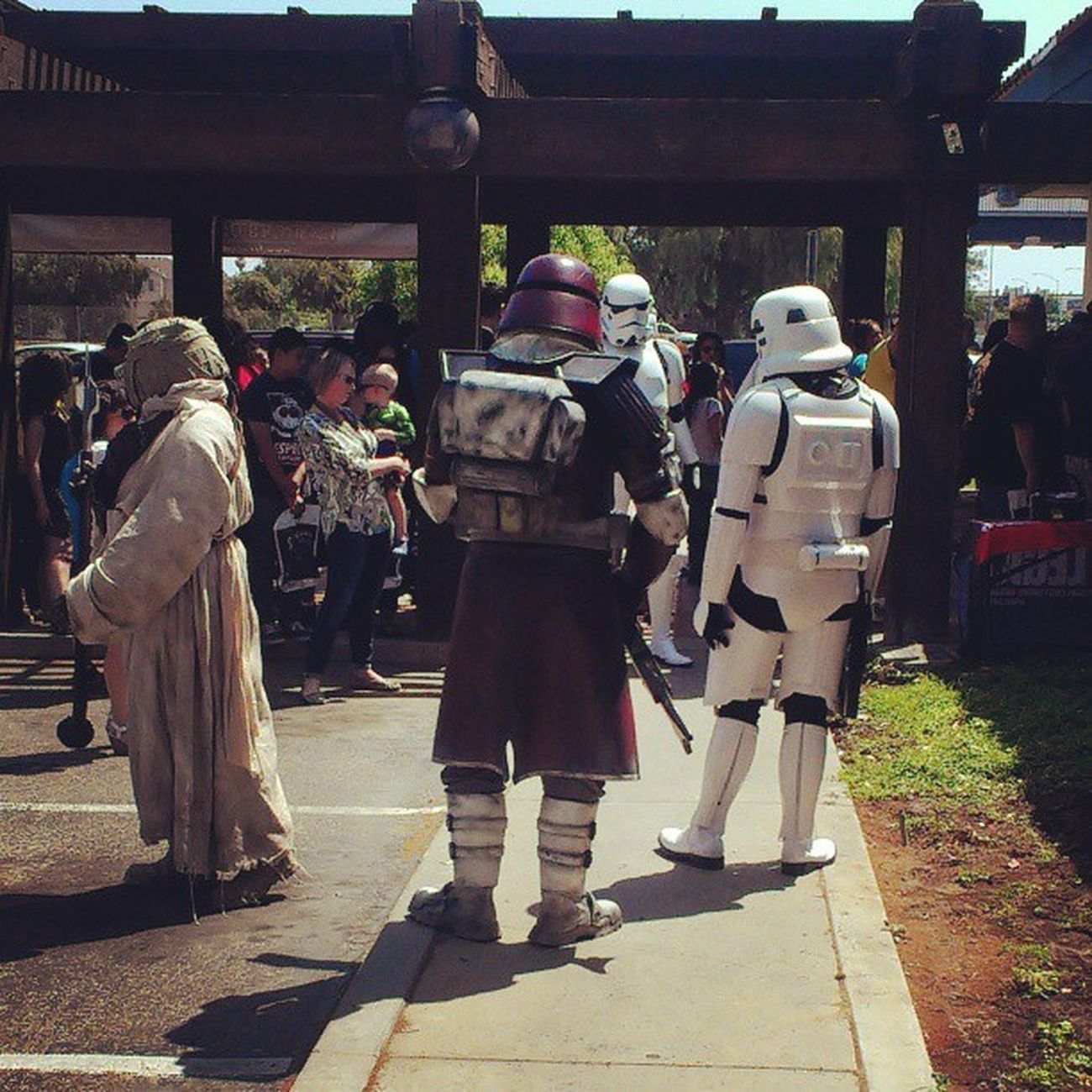 What happens when #maythe4th and #freecomicbookday lands on the same day? This happens! #heroscomics #Fresno Fun Stormtroopers Fresno  MayThe4thBeWithYou Maythe4th Freecomicbookday Heroscomics Theforce Theforceisstrongwiththisone Angelgetaways