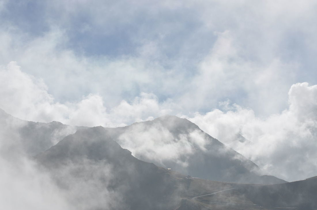 Awe Beauty In Nature Cloud - Sky Cloudscape Day Fog Heaven Landscape Mountain Nature No People Outdoors Scenics Sky