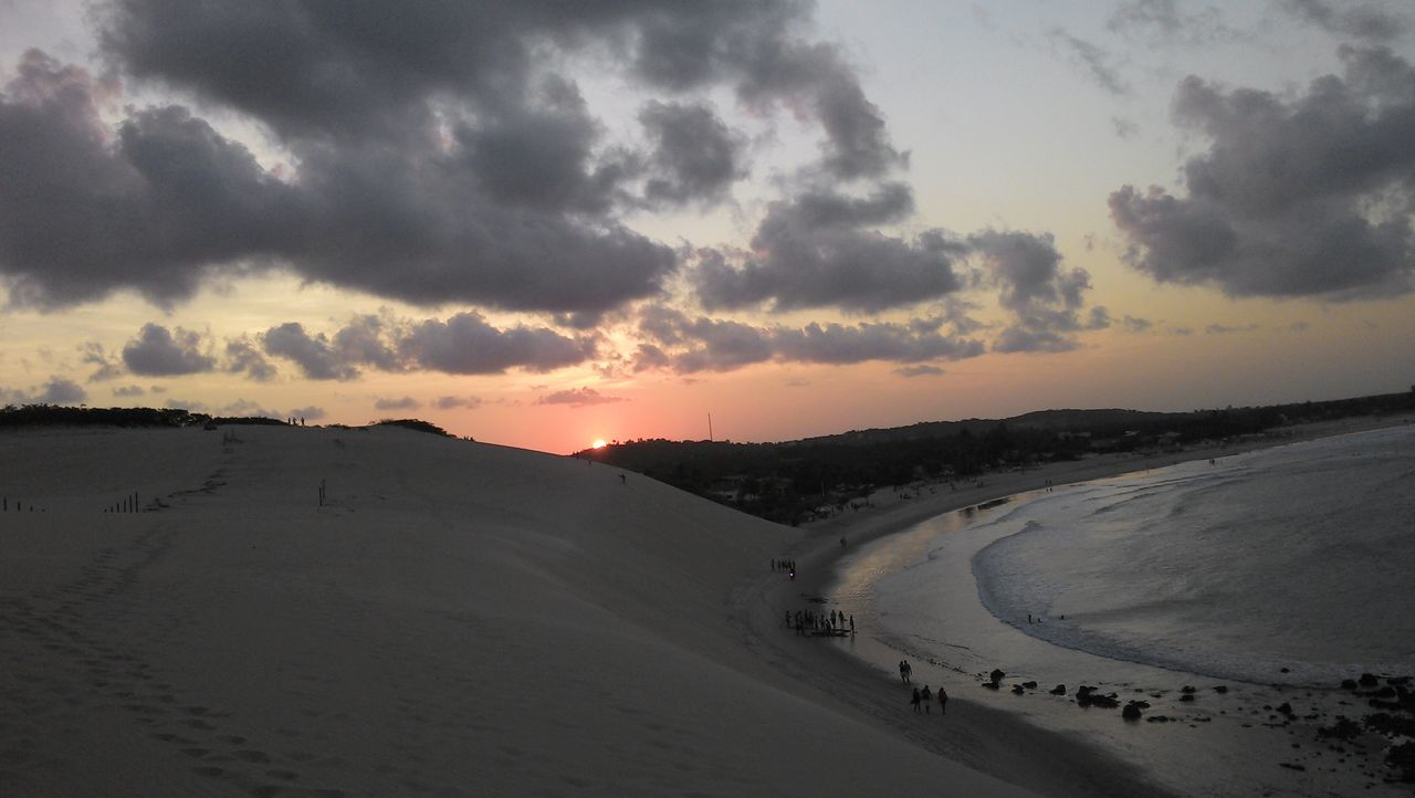 Genipabu's beach Beauty In Nature Cloud - Sky Day Dunes Nature No People Outdoors Scenics Sky Sunset Sunset #sun #clouds #skylovers #sky #nature #beautifulinnature #naturalbeauty #photography #landscape Winding Road
