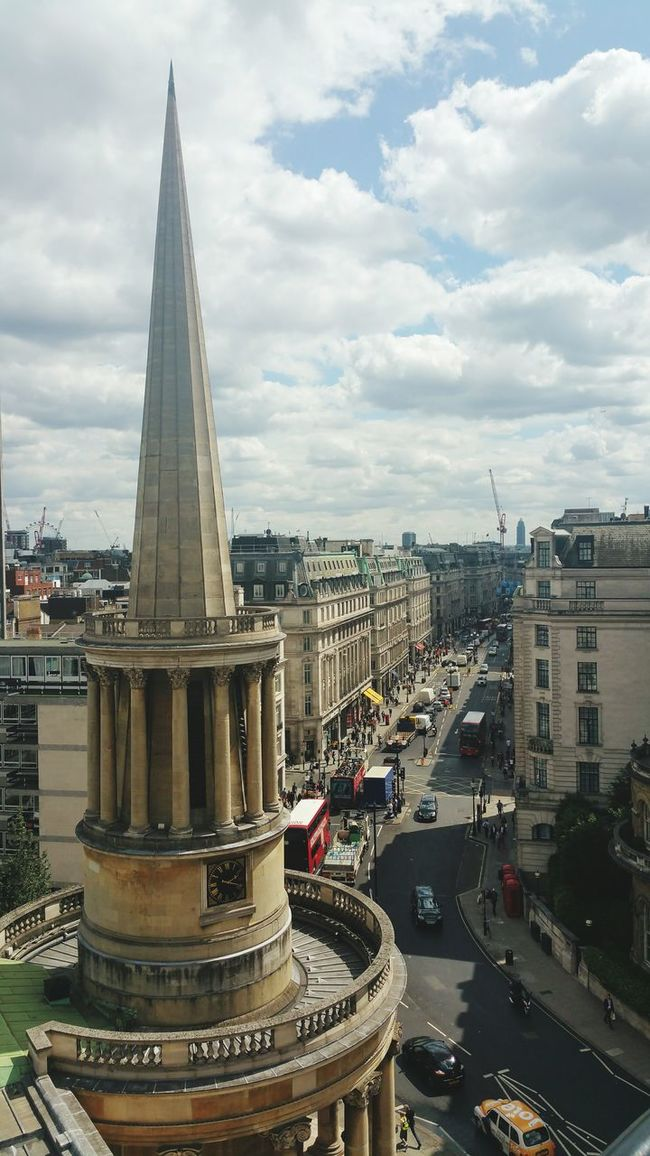 View from the balcony at the BBC Broadcastinghouse Oxfordstreet London