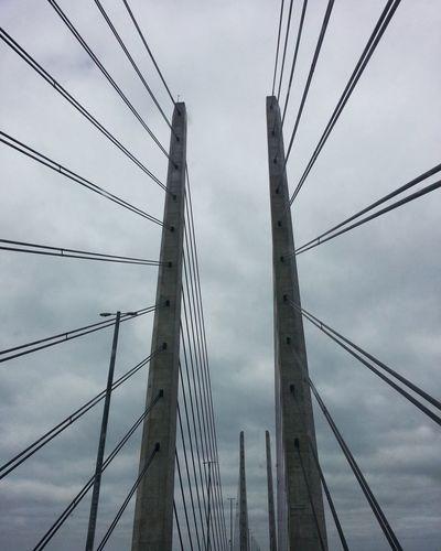 Bridge Cable Sky Bridge - Man Made Structure Built Structure Storebæltsbroen No People Denmark Coast To Coast. ... EyeEmNewHere No Edit/no Filter