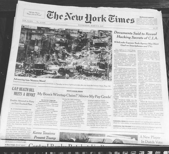 Daily Dose of Propaganda Front Page New York Times Black And White
