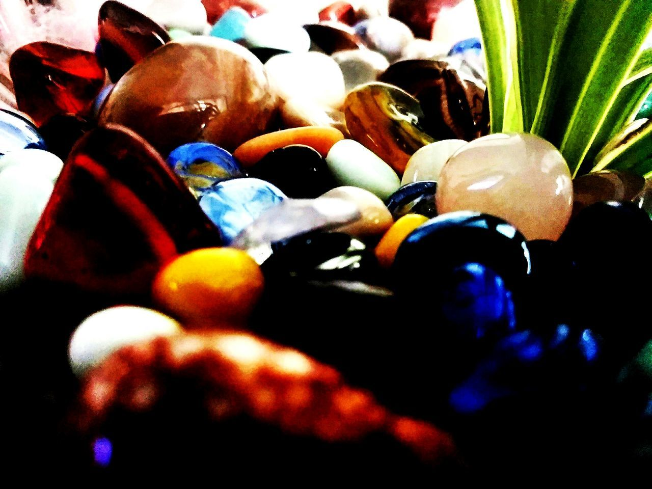 Tgere are ni lijes in nature, only areas of colours, one against another. Close-up Multi Colored Pebbles Stones Colorful