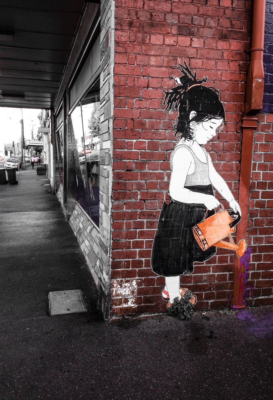 Photographic Approximation... Streetart/graffiti pasteup by BeFree...