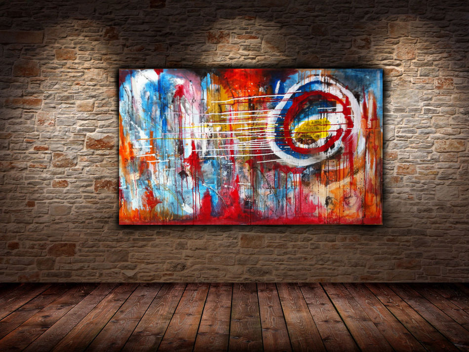 My art work Slasky | Transitions Mixed media 124x72 Abstract Art Contemporary Art Colors