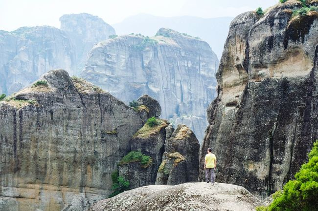 Meteora again Rock - Object Rock Formation Mountain Water Geology Tourism Rocky Mountains Travel Destinations Non-urban Scene Nature Scenics Physical Geography Tranquility Tranquil Scene Cliff Beauty In Nature Outdoors Rock Mountain Range Vacations