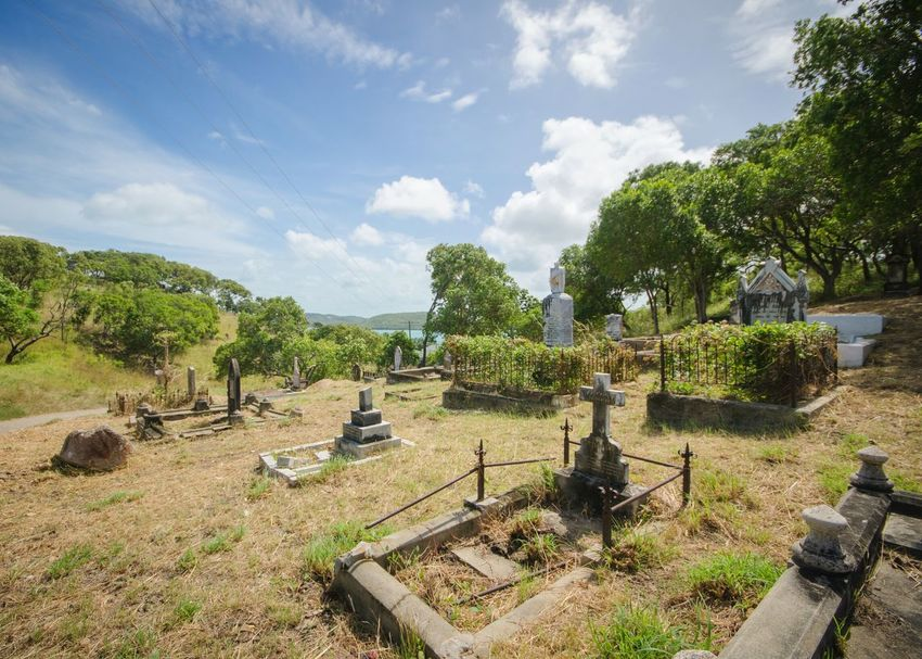 Thursday Island Cemeteryscape Melancholic Landscapes On The Top Of The Hill Peace And Quiet Edge Of The World Stillness In Time Last Thing I See Permanent Site Last Home Cemetery Graveyard Graveyard Beauty Tropical Paradise Australia & Travel My Eyes My Nature Landscapes