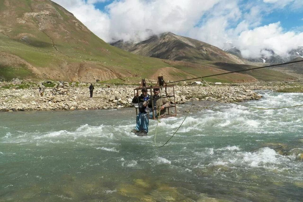 river kunhar crossing on the way to dudi patsar lake. Living Dangerously Thrilling River Collection Pakistan