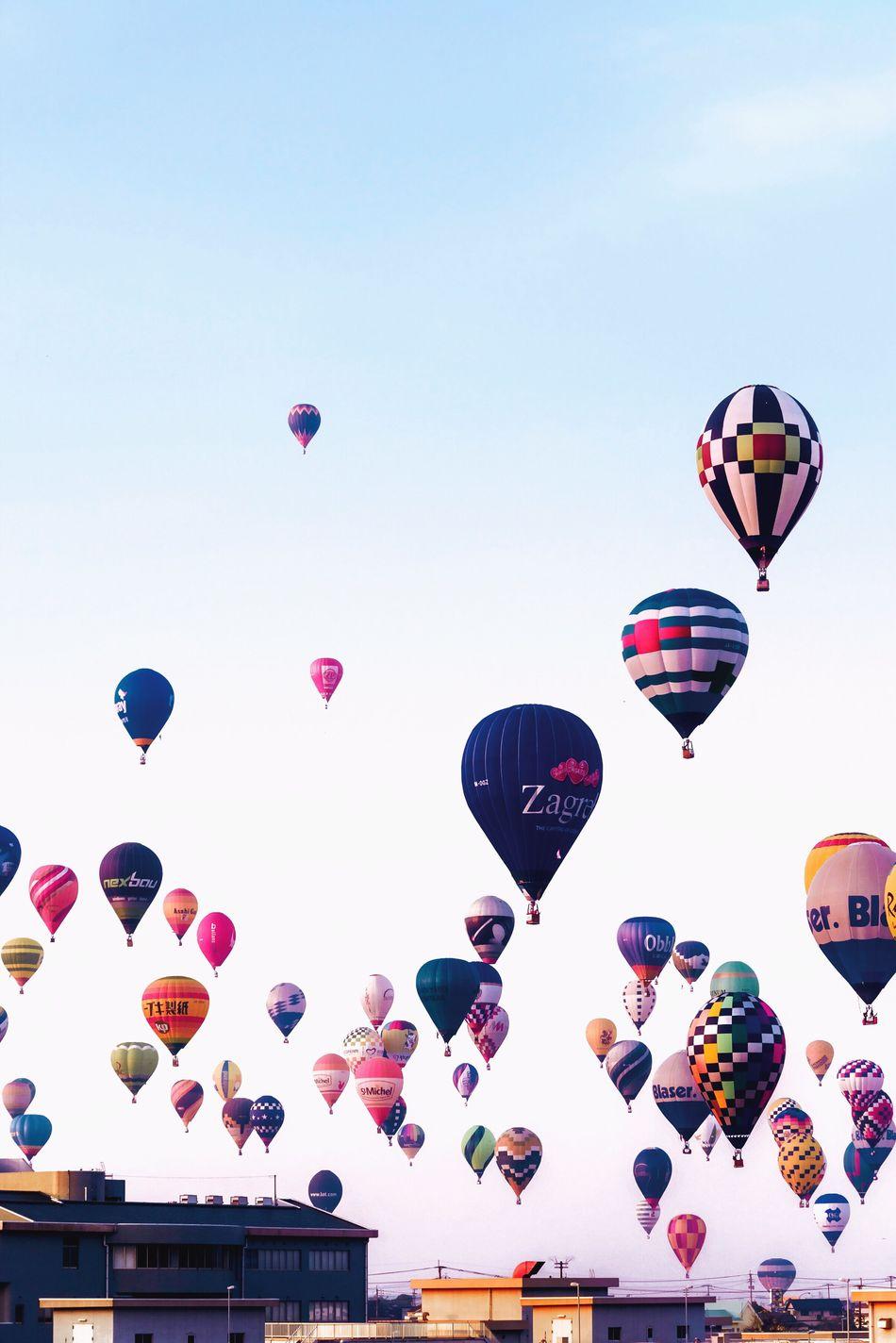 Beautifully Organized up in the sky Hot Air Balloon Ballooning Festival Balloon Sky Minimal Minimalist Minimalism Minimalobsession