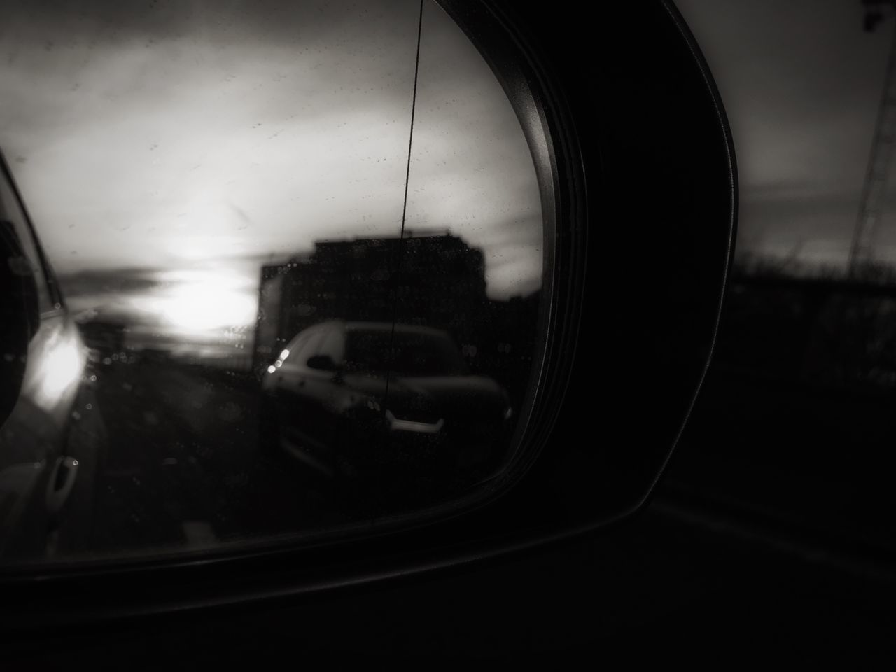 Car Reflection Side-view Mirror Close-up Vehicle Mirror No People Creative Photography Street Photography Fresh On Eyeem  EyeEm Best Shots - The Streets The Week Of Eyeem EyeEm Best Shots EyeEm Bnw EyeEm Best Shots - Black + White Black And White Window Day Silhouette Dark Blurred Motion