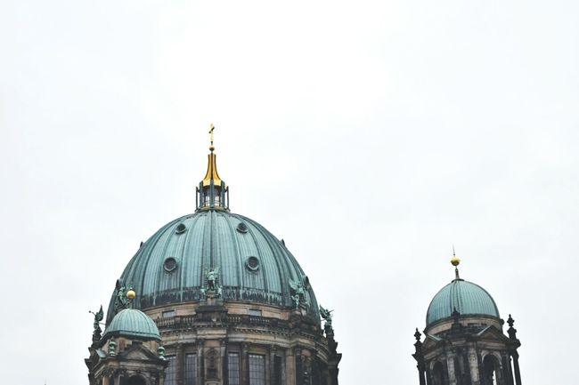 Showcase April Seeing the sights in Berlin city. Berlin Seeing The Sights Berlin Dome  Church Dome Bronze Dome Sightseeing Berlin Roofs Berlin Rooftop Dome Detail Artsy Photography Two Is Better Than One