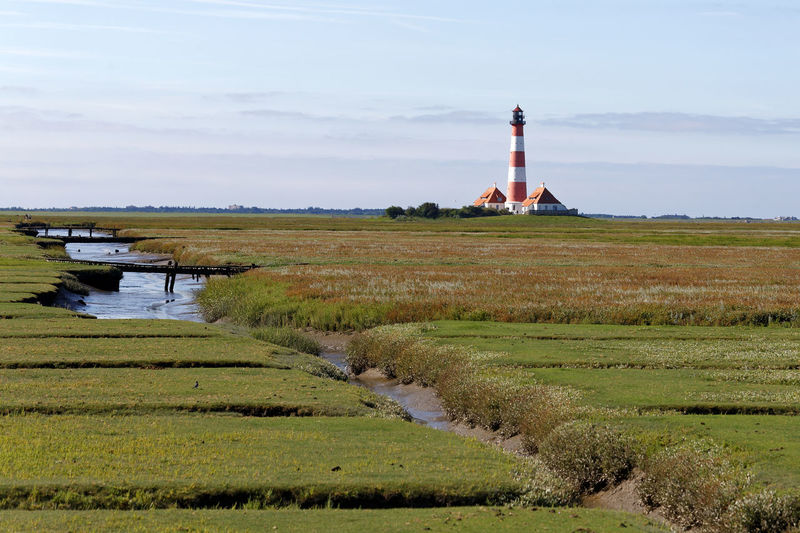 Beacon Leuchtturm Lighthouse Nordfriesland Nordsee Northsea Westerhever Westerhever Beacon