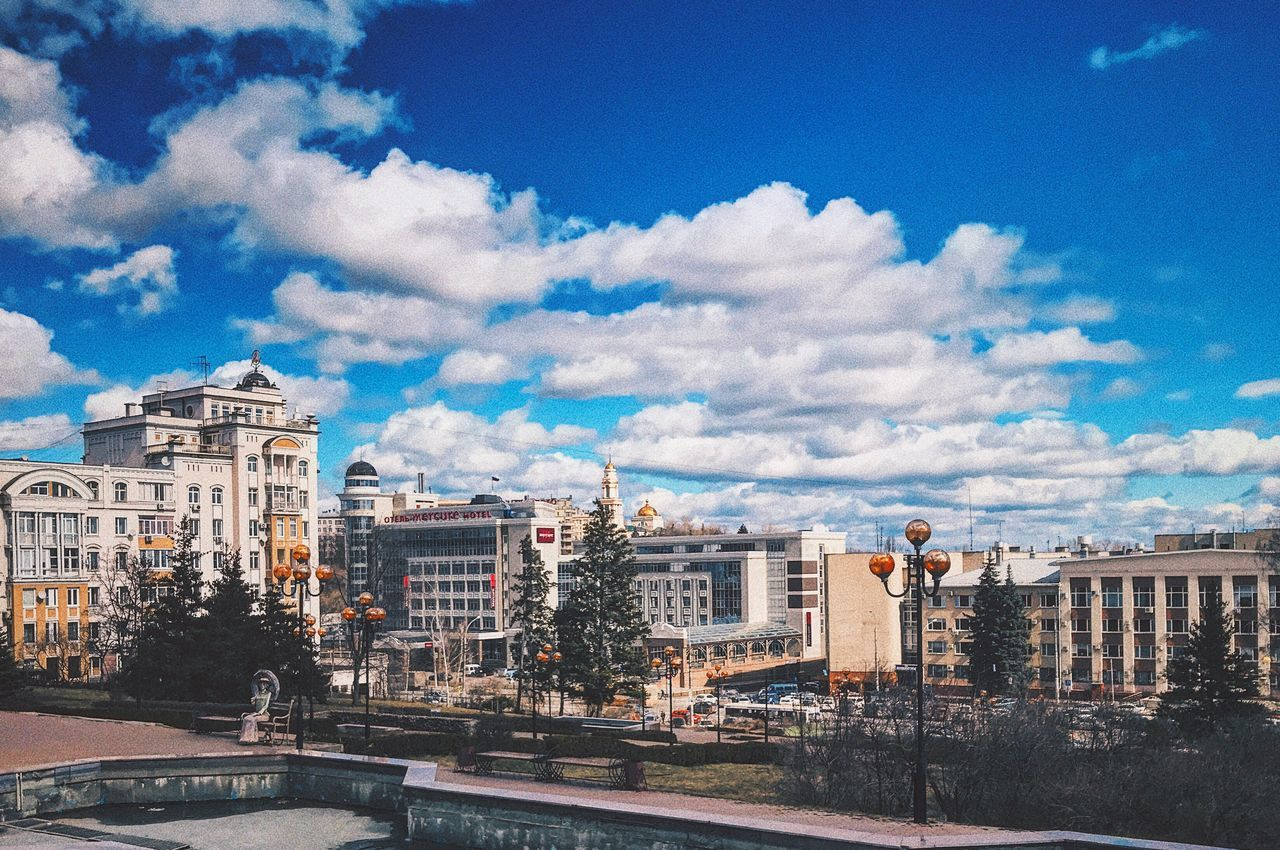 Building Exterior City Architecture Cloud - Sky Sky Built Structure Cityscape Outdoors Travel Destinations No People Road Tree Day Urban Skyline липецк Lipetsk EyeEmNewHere Resist