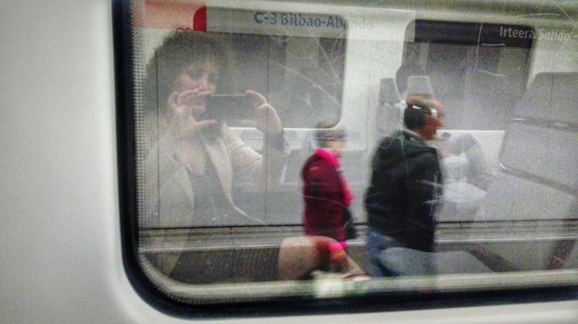 Reflection_collection Reflection Woman Portrait Woman Photographer Traveling People Watching People Photography Artist Train Window View Contemporary Art Motion On My Way To Work My Own Style Of Beauty This Is My Life This Is My Art!!!