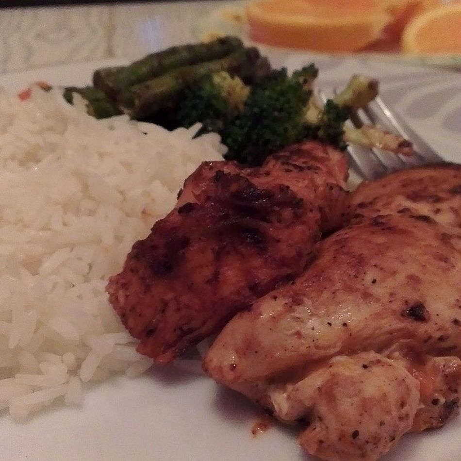 Dinner tonight SpicyButterChicken Whiterice Alwayshungry Eat homecookmeals lovefoodhatewasteGoEatAtHome