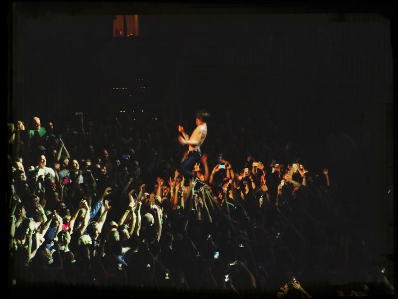 Cage The Elephant--standing on the crowd. He never fell. Live Music Cagetheelephant YumcenterLouisville Concert Photography