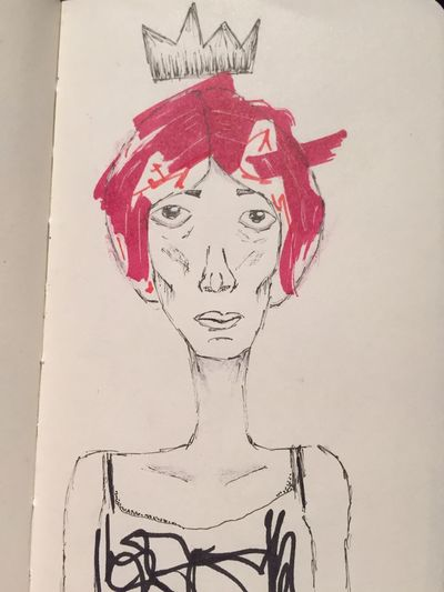 The smelly princess People Abstract Color Portrait Street Art/Graffiti Moleskine Hello World Woman Tattoo Pen Drawing Art, Drawing, Creativity Sketching Portrait Abstract Art Drawings Grunge Illustration Art Gallery Art ArtWork Abstract Girl Drawing Ink Sketch Draw People Watching