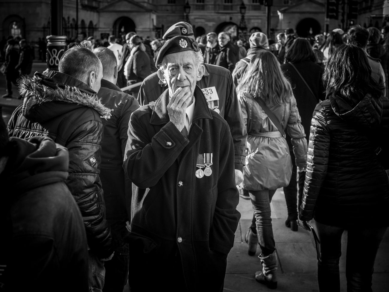 Lets remember and honour those who have sacrificed themselves to secure and protect our freedom. Ceremony 50mm Olympus Pen-f Rawstreets Maxgor Maxgor.com Street Streetphotography Peope Street Photography London Prime Lens Monochrome Photography Remembrance Day Remembrance