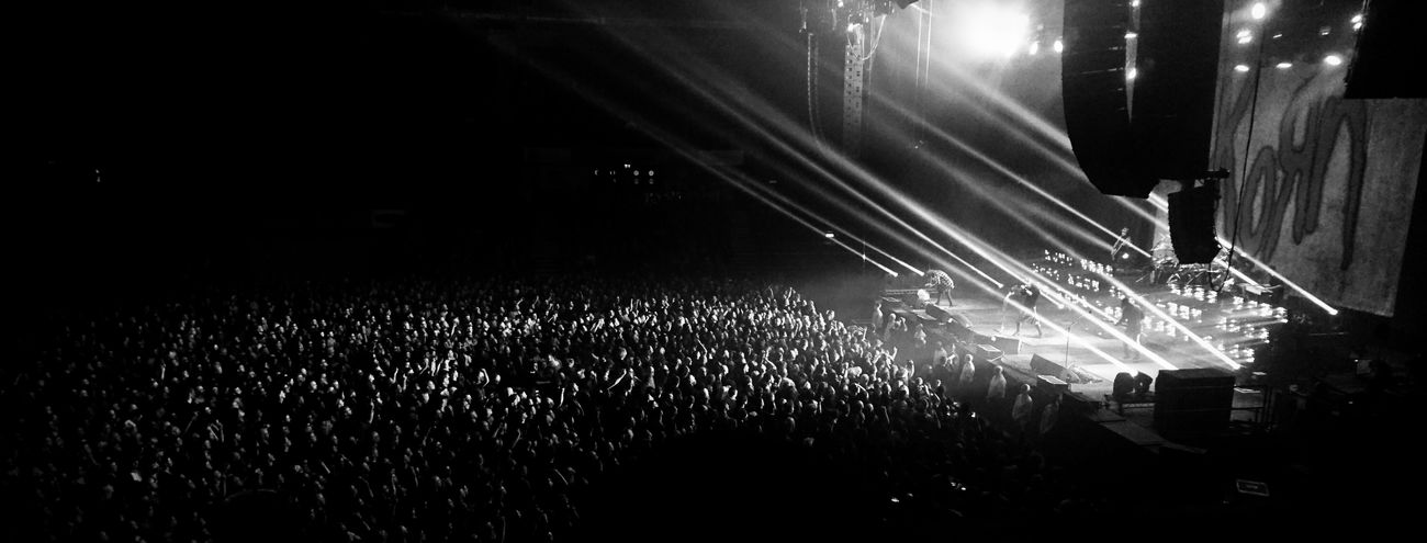 Korn live at Nottingham 2016 Mono Eyeforblackandwhite Eye For Photography Eye4black&white  Black And White Photography Monochrome Korn Spotlight