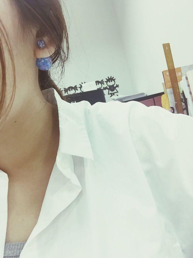 Earrings Blue Kristal ✿♡♀ Mermaid's Blue Ootd Friday Fashion Happy Day:)