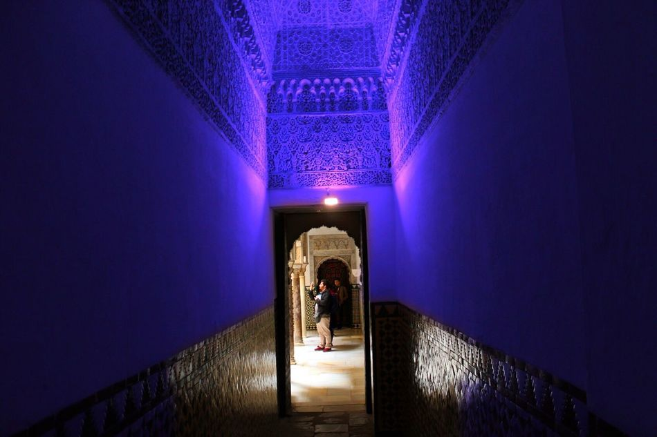 The Way Forward Illuminated One Person Travel Vacation Gypsylife Seville SPAIN Andalucía Sevilla Alcazar De Seville Alcazar
