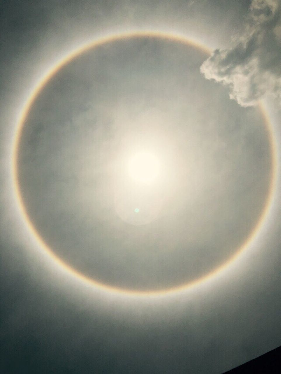 circle, no people, rainbow, beauty in nature, sun, nature, halo, solar eclipse, close-up, outdoors, day, sky, astronomy