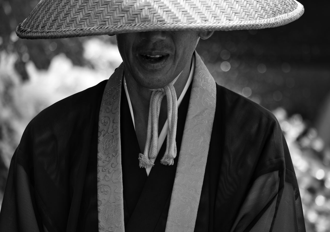 Duty The Portraitist - 2017 EyeEm Awards The Street Photographer - 2017 EyeEm Awards EyeEm Best Shots Portrait Monk  Japan Japanese Culture One Man Only One Person Front View Adult Close-up People Day Monochrome EyeEm Best Shots - Black + White Blackandwhite Buddhist Buddhist Monks Streetphotography Looking At Camera Outdoors Streetphoto_bw