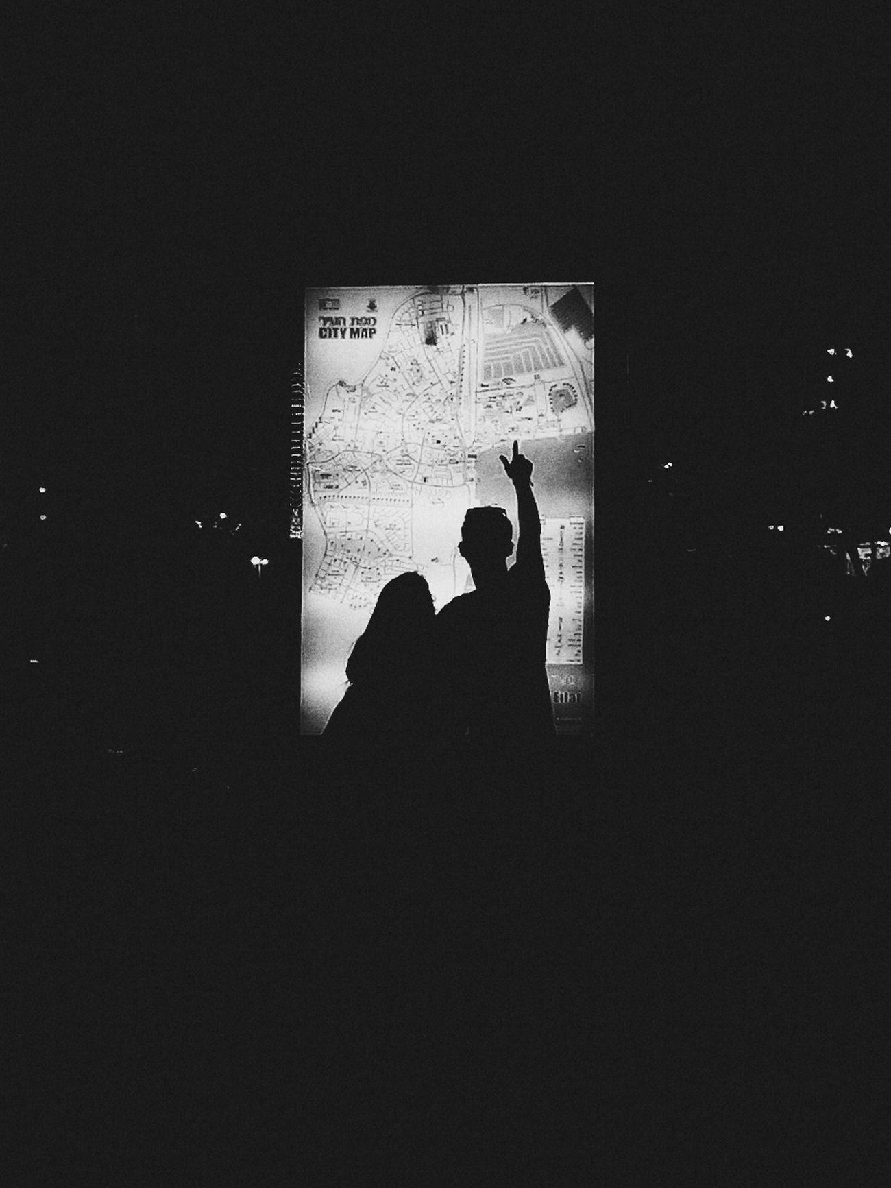 Directions. Streetphotography Blackandwhite Silhouette Night Htc One M8 Vscocam Mobilephotography