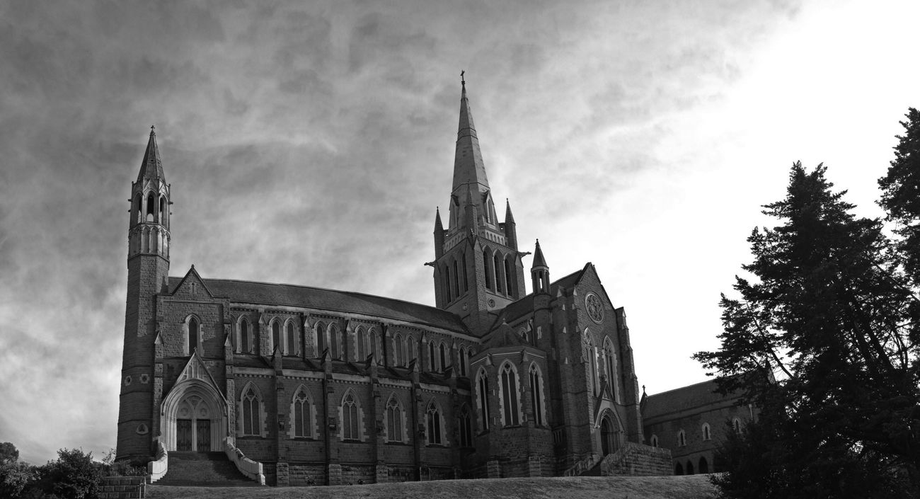 The Cathedral (IPhone panorama) Black And White Don't Be Square IPhoneography