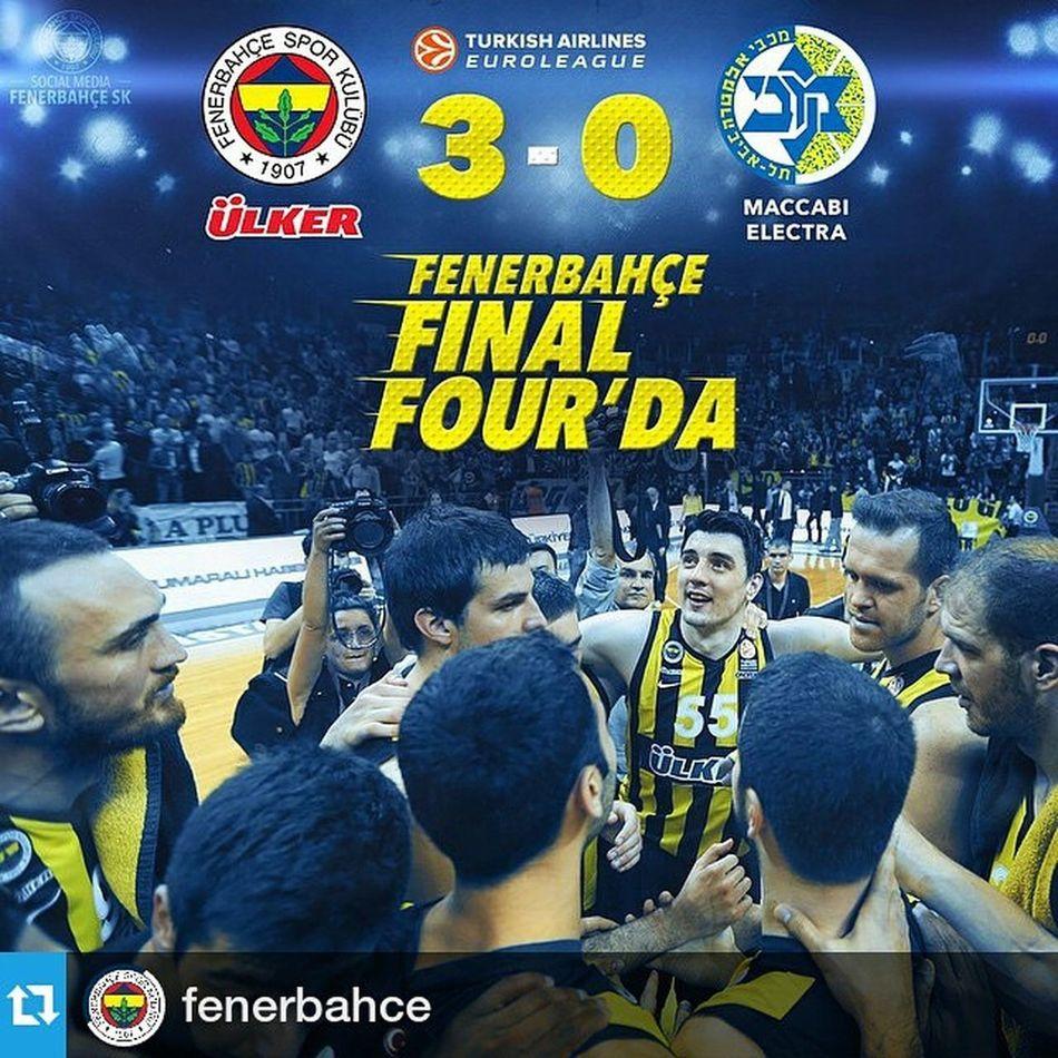Repost @fenerbahce ・・・ Maç Sonucu   Maccabi Electra 74-75 Fenerbahceulker . FENERBAHÇE ÜLKER FINAL FOUR'DA! Fenerbahce  InstaFB Euroleague