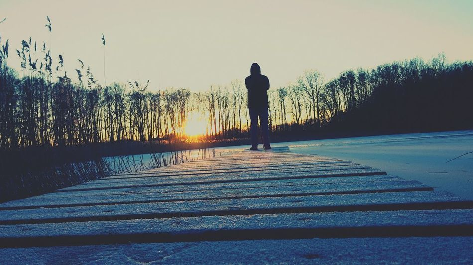 From My Point Of View Getting Inspired Winter Wonderland Sunset Landscape