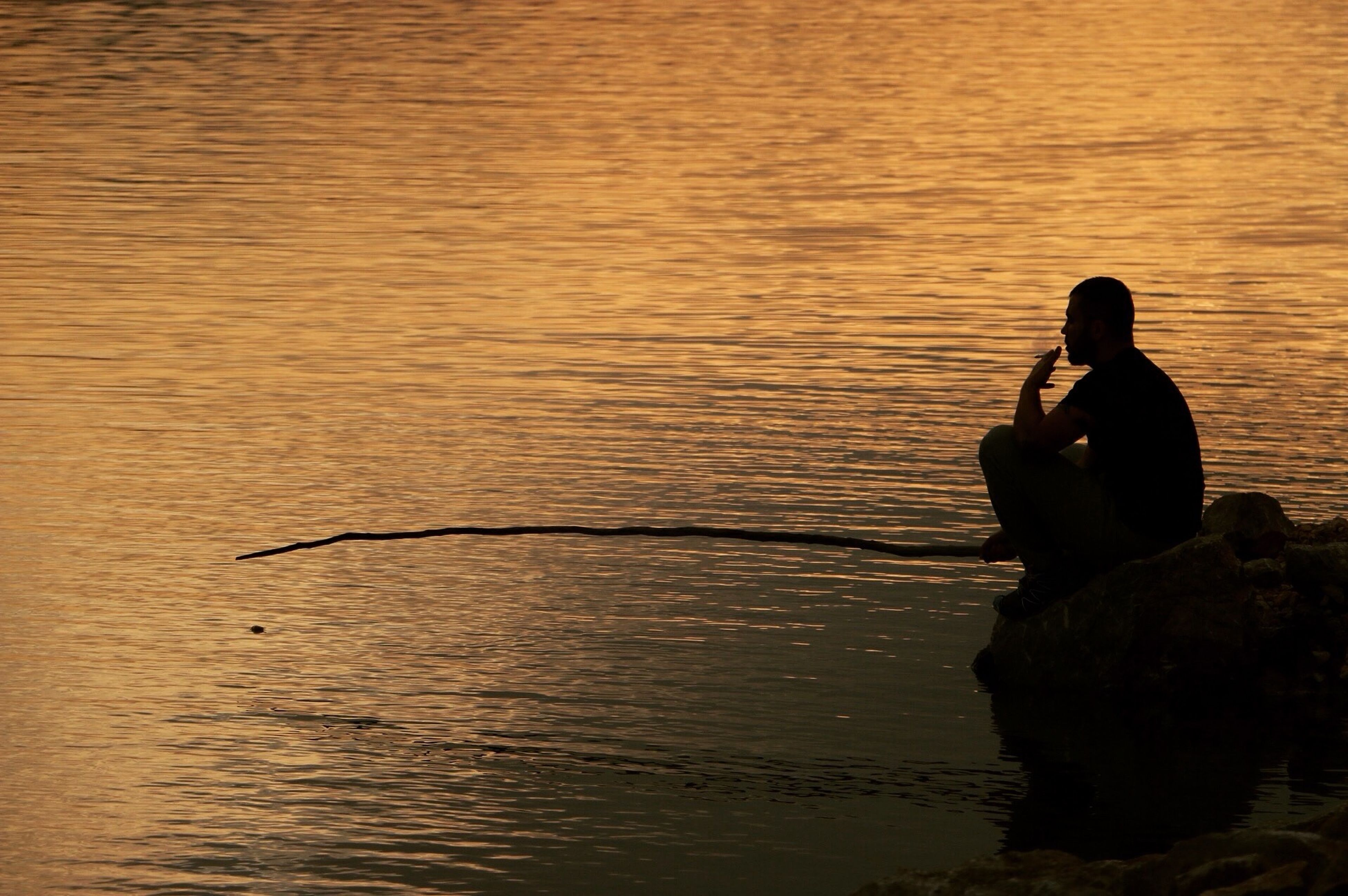 water, adults only, sea, adult, sunset, outdoors, one person, people, day, young adult, only men
