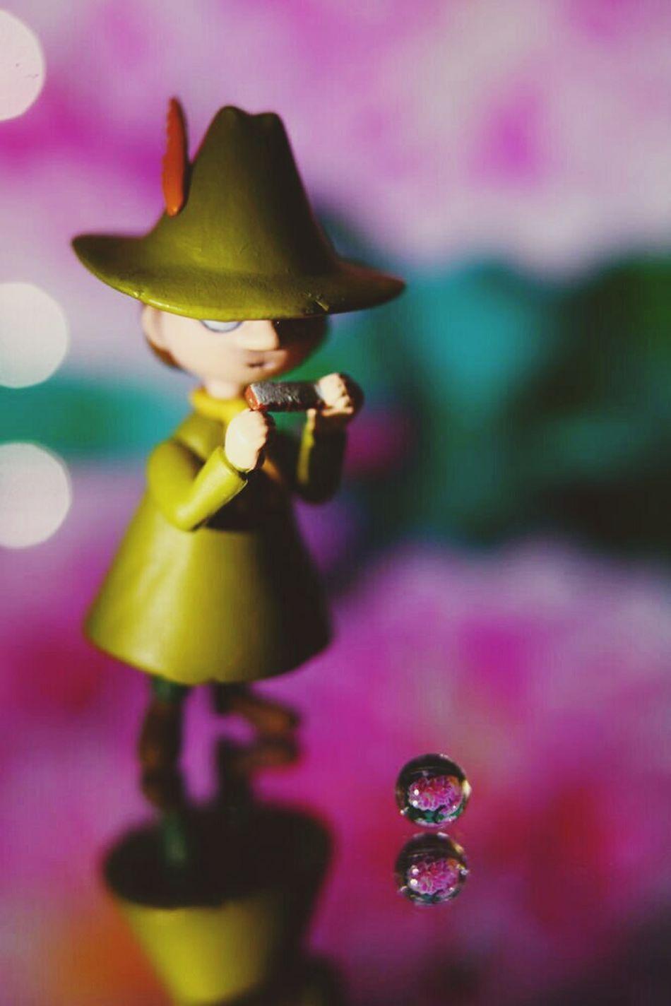 思い付きで実験 スナフキン ムーミン 花 Snufkin  Moomin Flowers