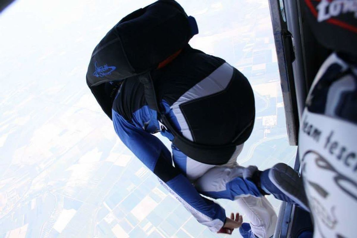 Enjoy The New Normal Jump Sky Dive Extreme Sport