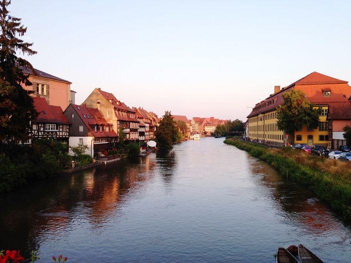 Klein Venedig Bamberg  Fluss Sunny Day