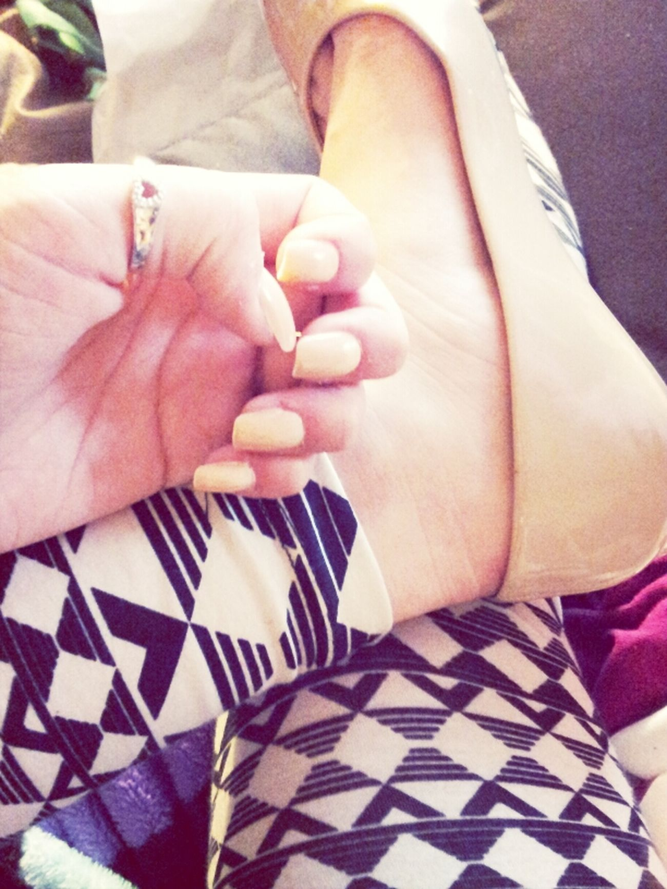 Tribal Leggings Neud Nails Neud Flats Patterned Leggings