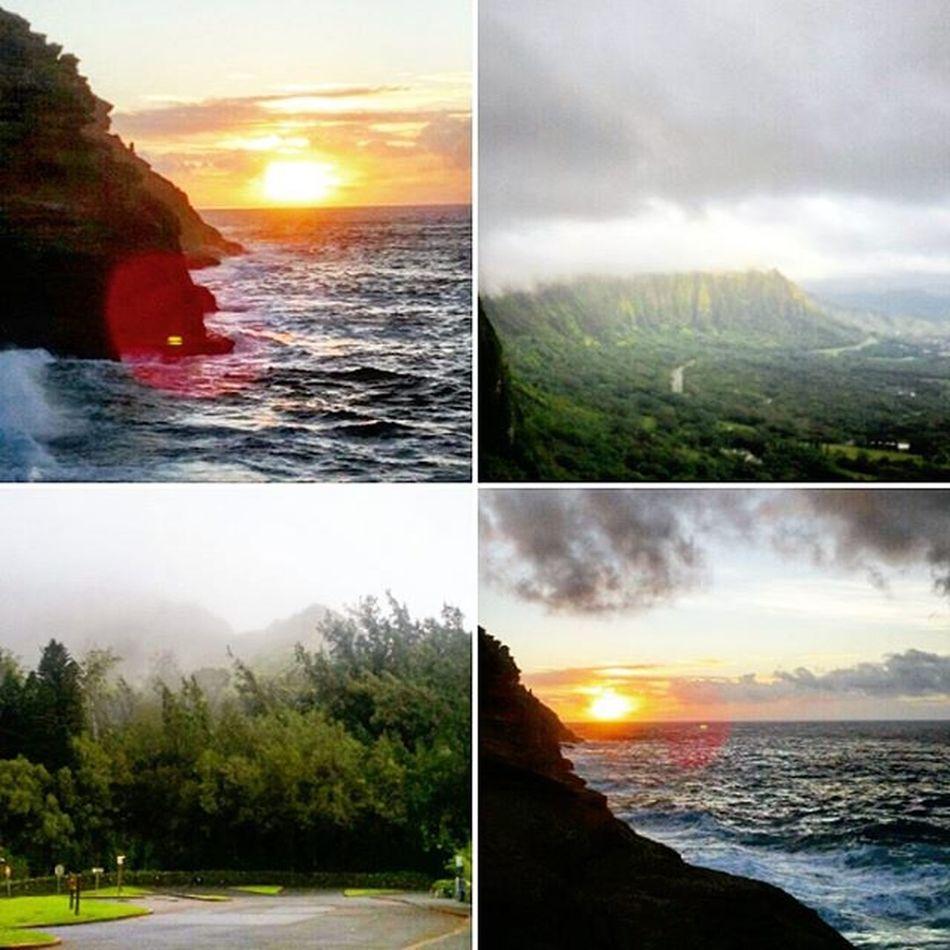 Scenic Sunday! :) Sunrise Palilookout Spittingcaves Koolaumountains Epichi Luckywelivehi HiLife Morning Shenanigans Venturehawaii