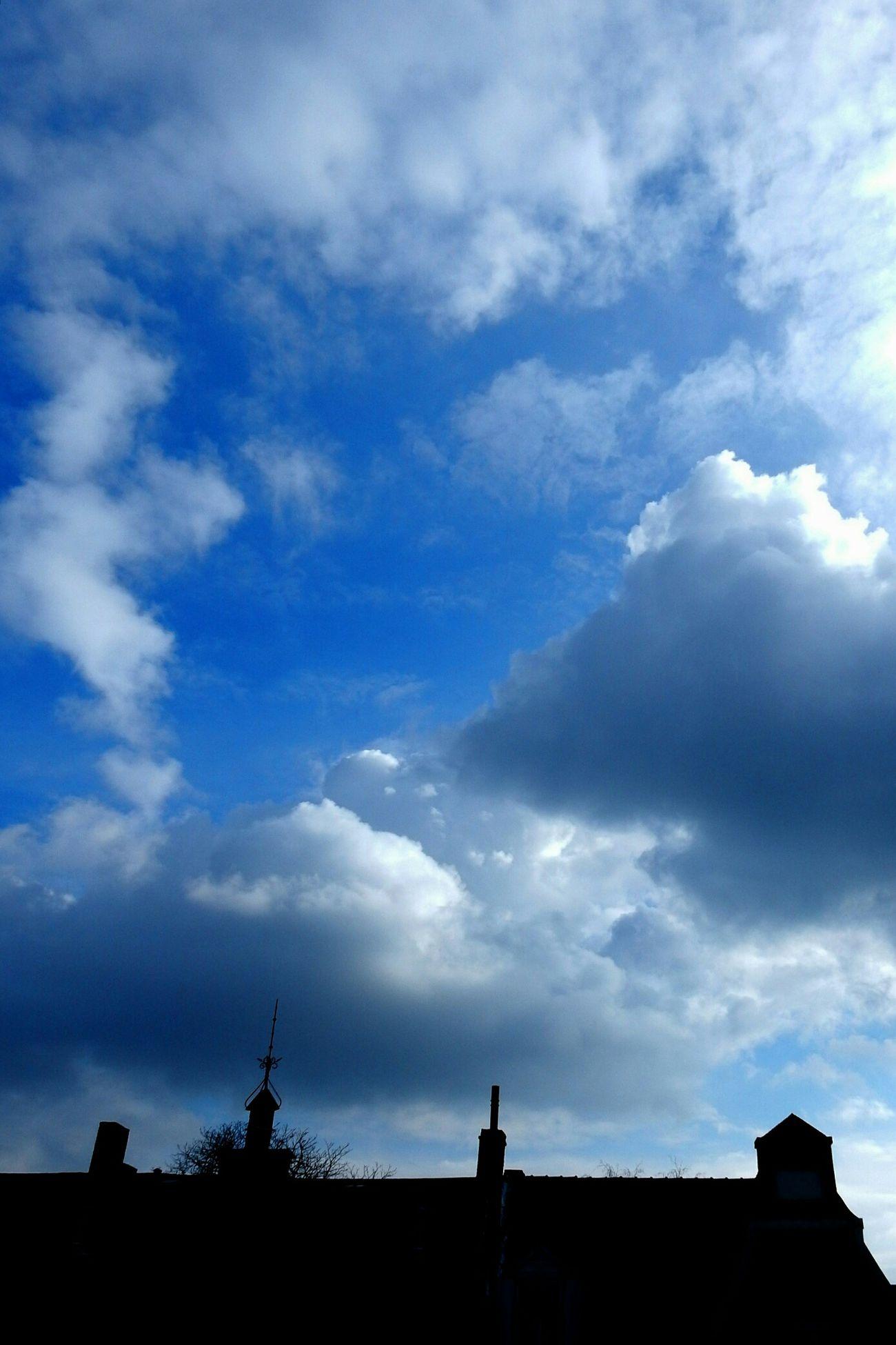 Blue Sky Black Countour
