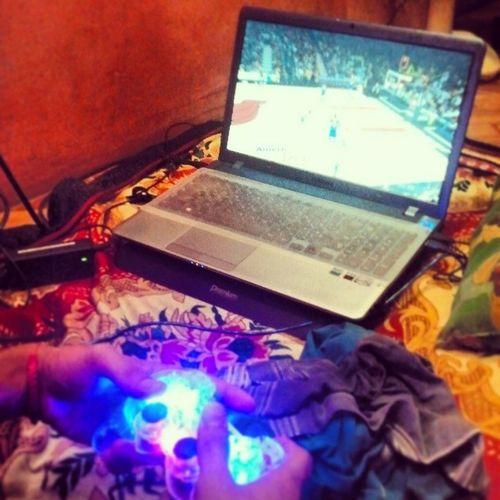 3 in the morning naglalaro pa rin kami :D NBA Nba2k14 Zombiemode Miamiheat indianapacers