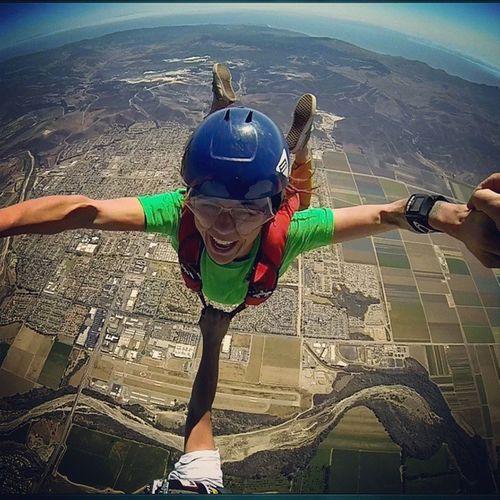 Hybrid happiness. SkydiveSantaBarbara SkyChurch Skydive SkydiveOrDie adrenalinejunky 805