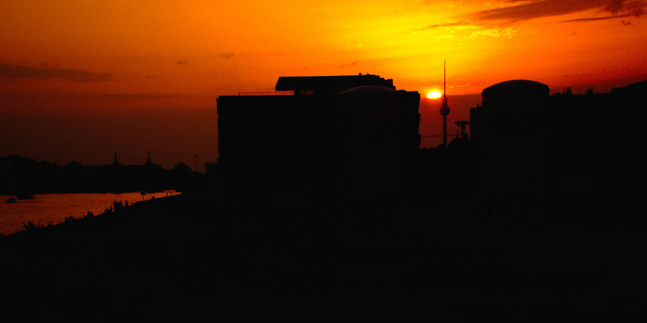 Black Buildings Diagonal Dusk Into The Light No People Outdoors Red Silhouette Sky Sunset Yellow