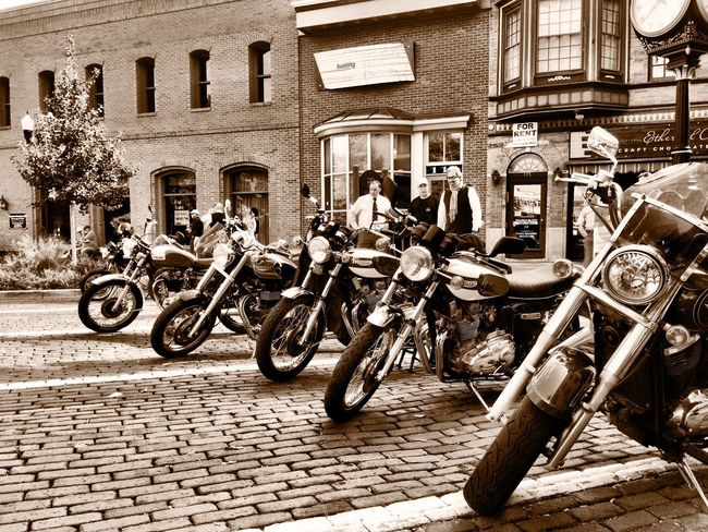 Transportation Classic Motorcycles Classic Style Woodstock Motorcycles Old Metal Blackandwhite